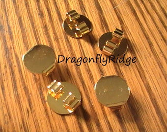 Bolo Tie Slides ~ Gold Bolo Tie Slides ~ 15mm ~ 5 Pieces ~ Flat Rate Shipping ~ Bolo Tie Findings ~ Bolo Tie Hardware ~ Gold Bolo Tie Parts