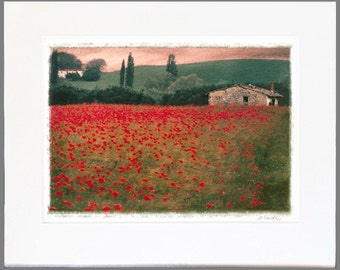 Any Original, Limited Edition, Fine Art Photograph matted and ready for a 32x40 frame (Poppies 1 shown)