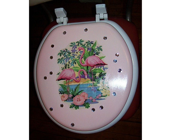 Brilliant Retro Flamingo Toilet Seat Vintage 1950S Pink Flamingo Rockabilly Florida Kitsch Short Links Chair Design For Home Short Linksinfo