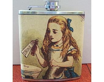Alice in Wonderland flask white rabbit retro vintage fairy tale kitsch
