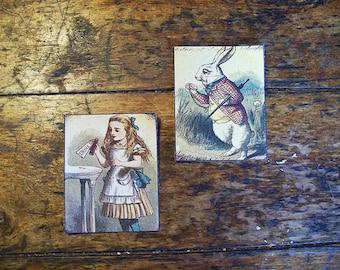 Alice in Wonderland patch set retro vintage victorian fairy tale