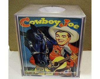 cowboy tissue box cover retro vintage 1950s  western rockabilly kitsch