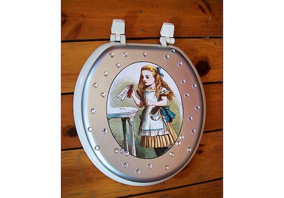 Alice In Wonderland Toilet Seat Retro Vintage Victorian Etsy