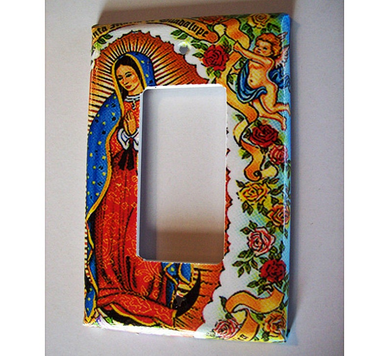 Virgin of Guadalupe rocker switch plate cover retro vintage image 0