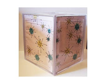 Atomic tissue box holder retro vintage 1950's mid century rockabilly bathoom decor