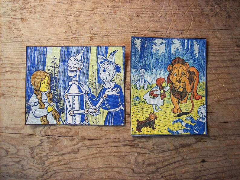 Wizard of Oz sew on patch set retro vintage fairy tale kitsch image 0