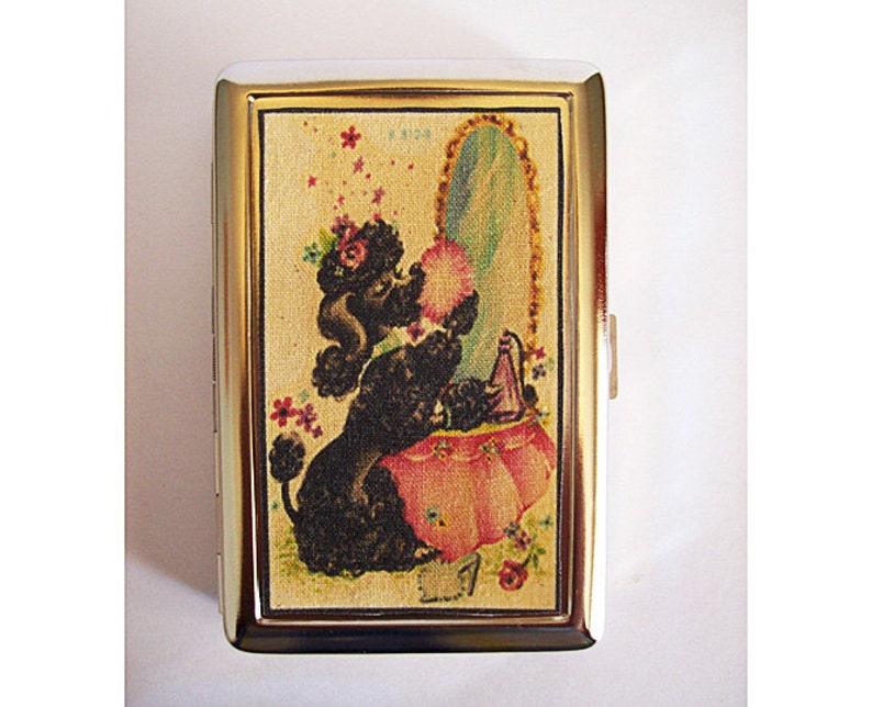poodle metal wallet retro vintage 1950s rockabilly cigarette image 0