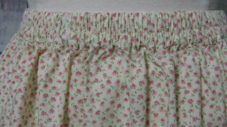 Ladies blue green floral cotton layering half slip-SALE