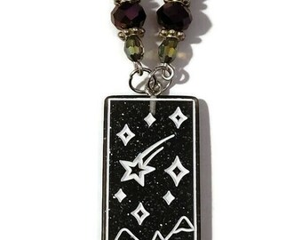 Tarot Card - The Star - Acrylic Pendant Beaded Necklace