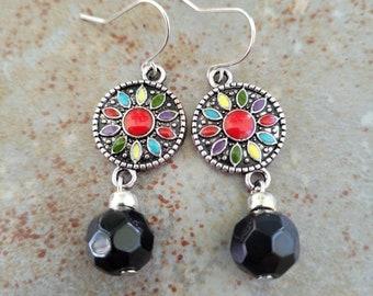 Spanish tile inspired earrings