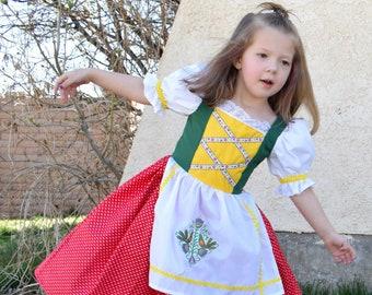 Girls Truly Scrumptious Music Box Doll Costume, Chitty Chitty Bang Bang, Bulgarian, German, Bavarian, European, International, Dirndl, Folk