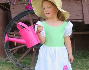 Mary Mary Quite Contrary, Mistress Mary, Cute Fairytale, nursery rhyme costume dress.  story book, Sizes 2 thru 8, pretend play, dress-up,
