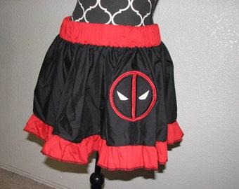 Dead Pool inspired Cosplay Skirt, Comic Con, Geek, Nerd, Halloween, FUN