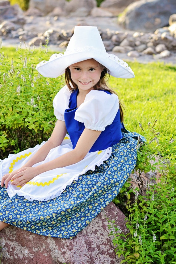 cute little dutch girl costume dress and hat netherlands etsy
