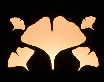 Ginkgo Nightlight Small - Walnut or Maple - Plug-In