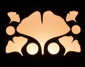 Ginkgo Holes Nightlight - Small - Walnut or Maple - Plug-In