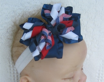 Patriotic Headband Infant Headband Baby Knot Headband 4th of July Headband Baby Headband Baby Girl Headband Fourth of July Headband