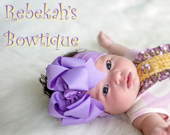 lavender baby headband a9b449ea929