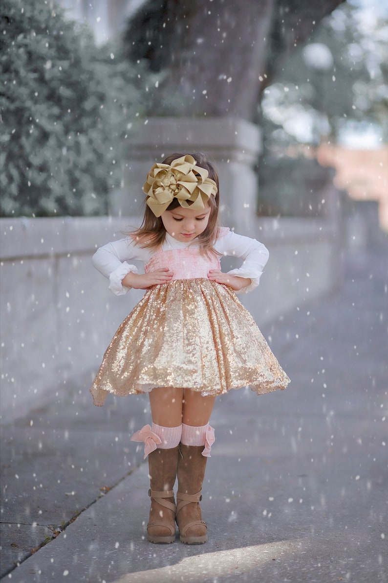 Glitter hair bow pageant wear Golden bows Hair bows for girls Baby headbands Boutique hairbow Christmas Gold Headband Loopy Hair Clip