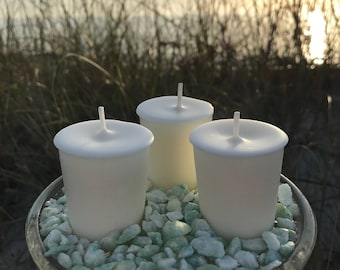 Soy Wax Votives, Natural, Unscented/Scented, Eco Friendly