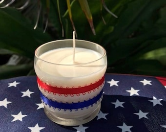 Patriotic Soy Candle, Memorial Day, Independence Day, etc. Eco Friendly, Great Gift!