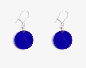 Circle dangle earrings, 925 sterling silver dangles