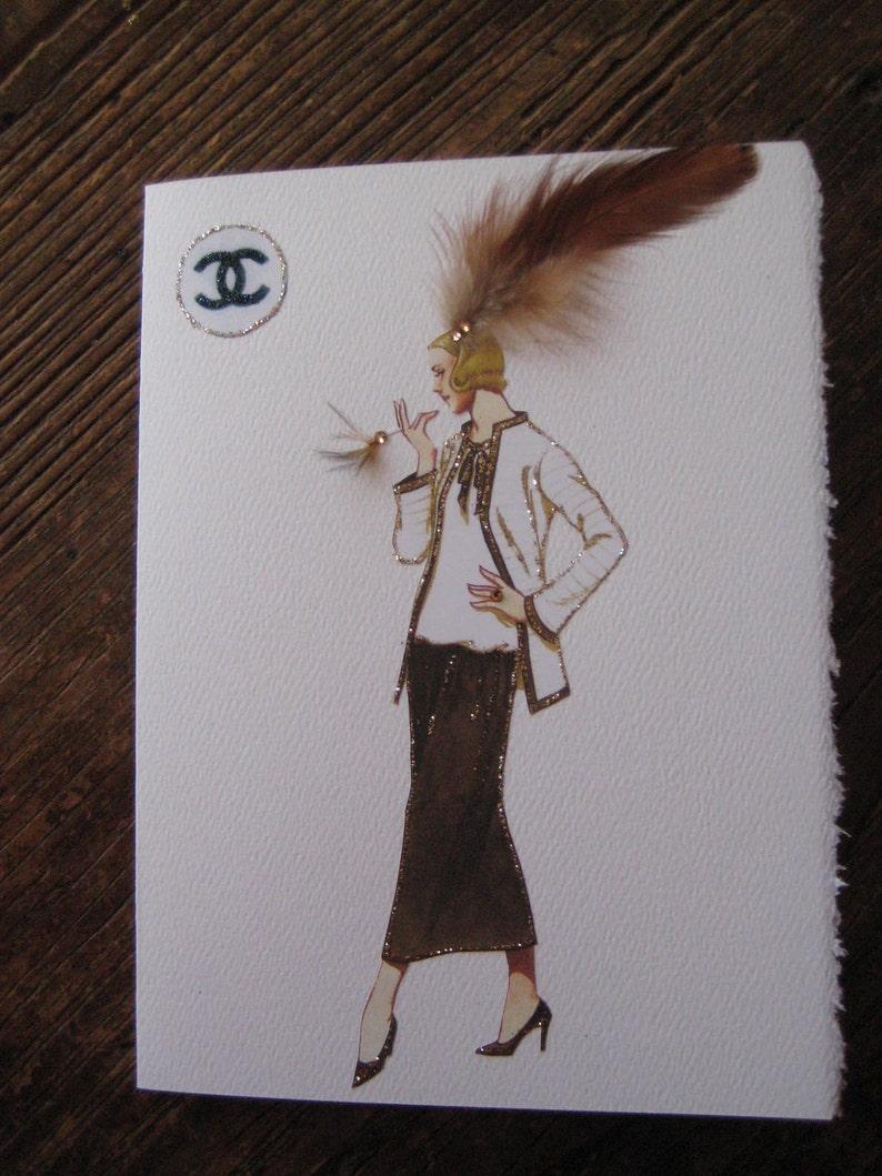 81d28043dd51 Coco Chanel Fashion Illustration 1923 Classic suit
