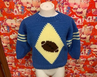 Rich shades of greens brown purple To fit age 8-9. Boy/'s sweaterjumperpullover