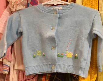 70s Baby Cardigan 3/6 Months