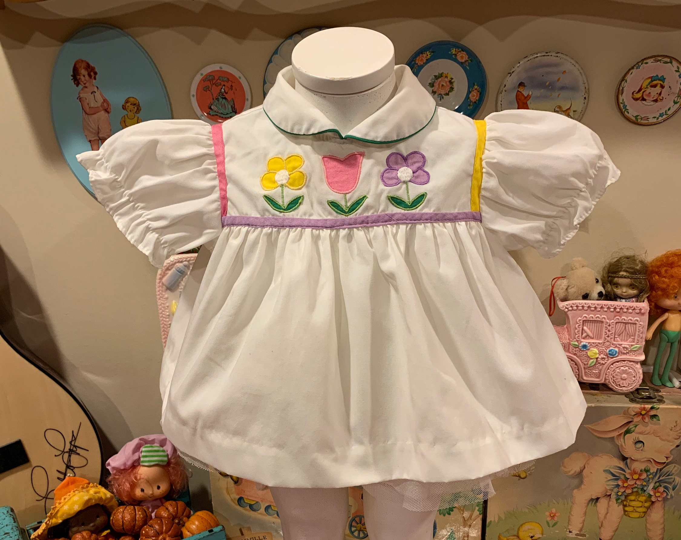 80s Dresses | Casual to Party Dresses 69 Months Baby Dress $12.00 AT vintagedancer.com