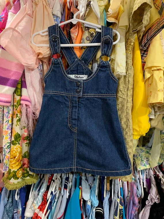 Vtg Girl/'s BLUES CLUES Jumper Shortalls Short Summer Overall Size 5 Embroidered