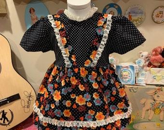 9/12 Months Handmade Floral Dress