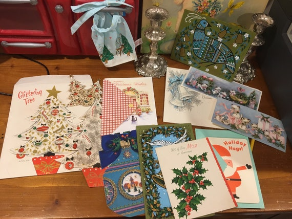 Vintage Christmas Cards Collection