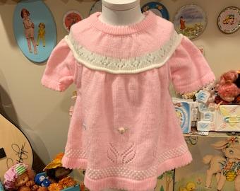 9/12 Months Knit Dress 70s