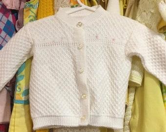 Vintage Baby Cardigan 3/6 Months