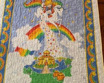 Rainbow Brite Baby Blanket
