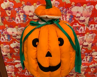 3T Pumpkin Costume 1980s Handmade