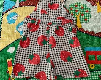 10/12 Kids Berry Shortalls