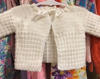 Handmade Baby Cardigan 0/3 Months