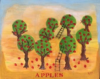 Apple - Original Painting - 16x20 inches