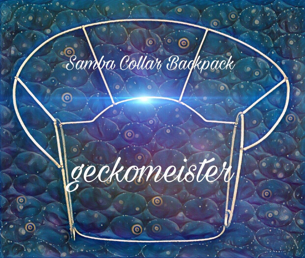 Simple Samba Collar Shoulder Backpack Wire Frame Design