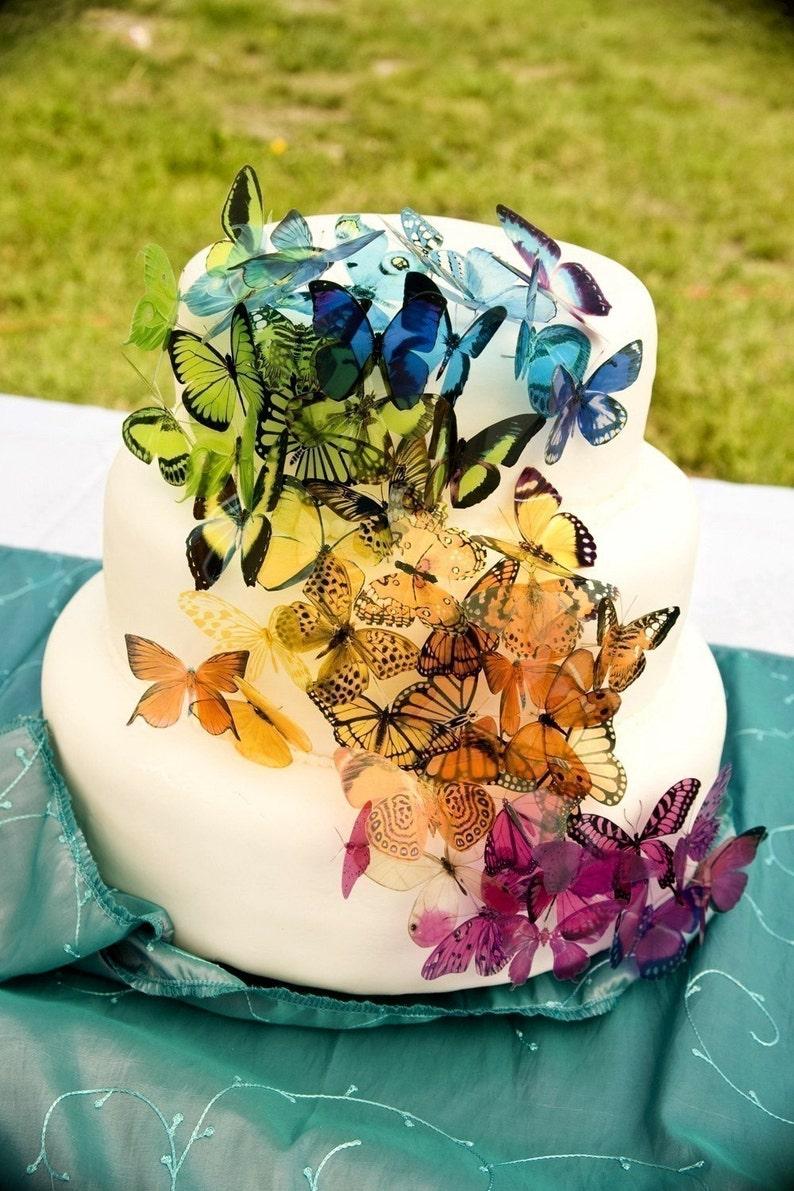 Pleasant 60 Butterflies Martha Stewart Replica Wedding Cake Etsy Funny Birthday Cards Online Overcheapnameinfo
