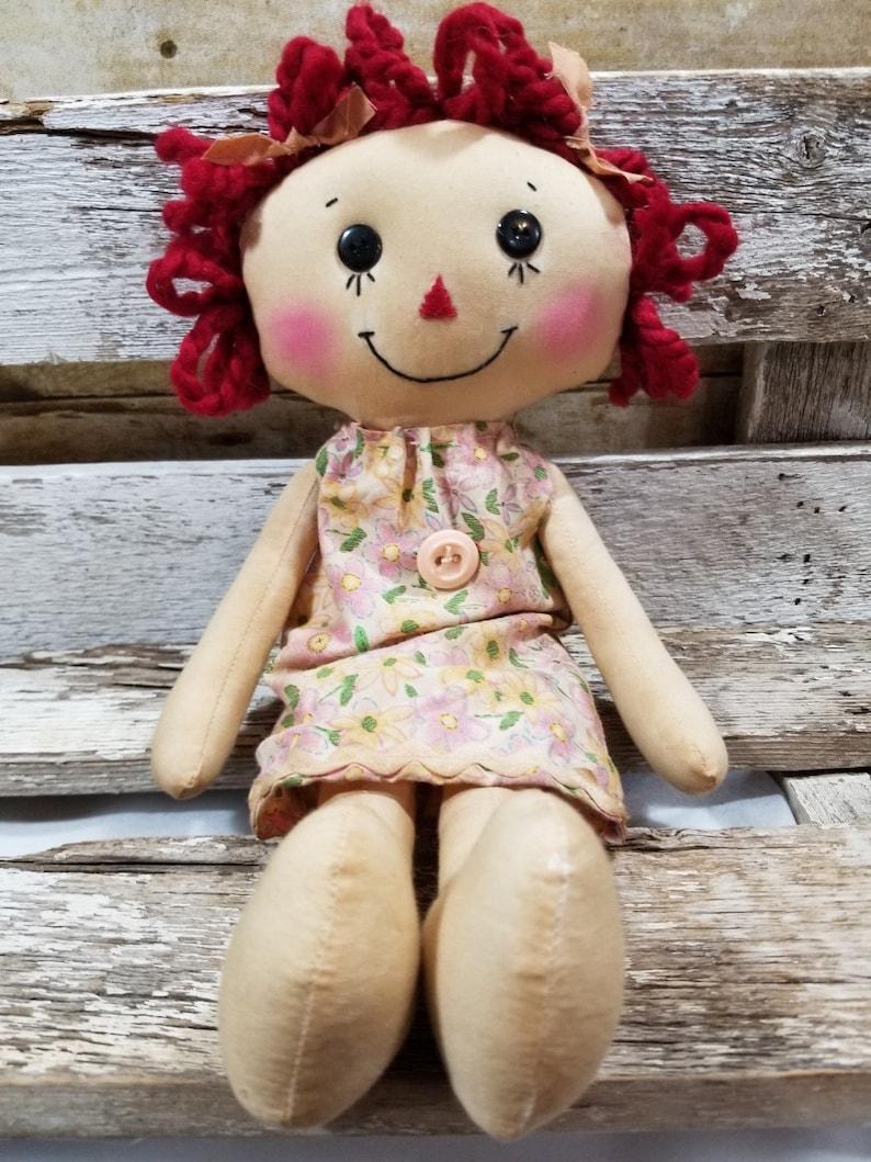 Raggedy Annie Billie Jean Annie Primitive Doll Raggedy Ann image 0