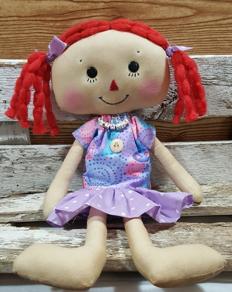 Raggedy Annie Primitive Dolls Natalie Annie Raggedy Ann Doll image 0