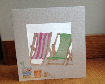 Deck Chairs, Bucket and Spade.