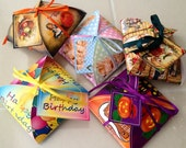 HoLIDAYS- 5 Decorative Favor Gift Box Templates- Christmas Halloween Thanksgiving Easter Birthday- 5 Printable JPG Digital FileS