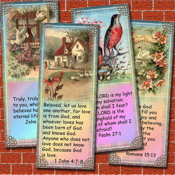 Bible Verse Bookmarks/Tags - 8 Inspirational Verses with