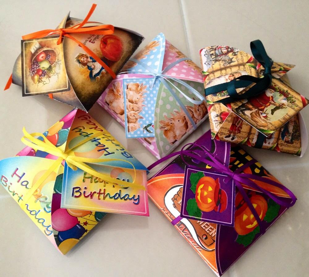 holidays 5 decorative favor  gift box templates christmas