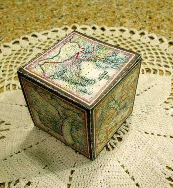 Old world maps vintage images decorative cubegift box gumiabroncs Image collections