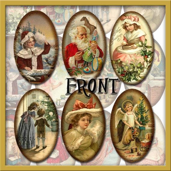 Nostalgische Weihnachtsbilder.ähnliche Artikel Wie 12 Nostalgische Vintage Weihnachtsbilder Oval